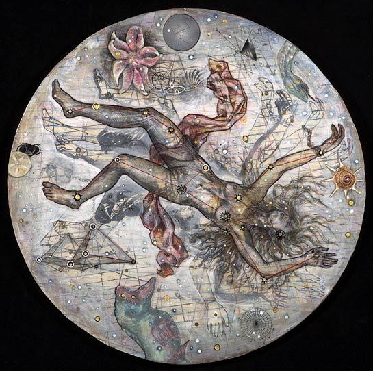 Andromeda, 2007, Mixed Media/Panel, 24&quot diameter