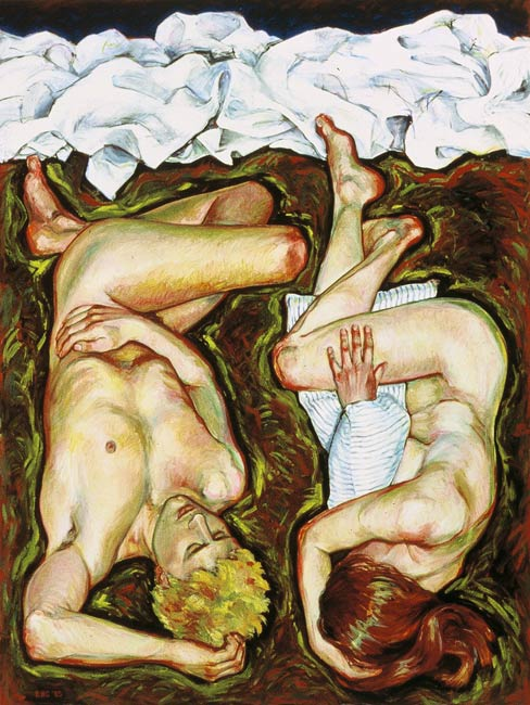 Only a Bad Dream, 1985, Oil/Canvas, 72 x 54""